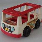 Vintage 1969 Fisher Price Little People Mini Bus 141