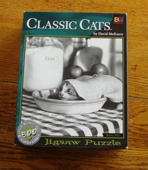 Vintage Buffalo Games Classic Cats Kitty Pie Jigsaw Puzzle 500 Pc