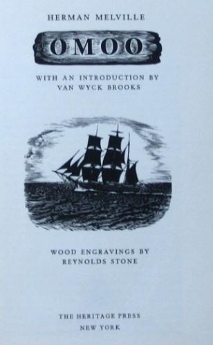 """1967 Heritage Press OMOO """"IN SLIPCASE"""" by Herman Melville"""