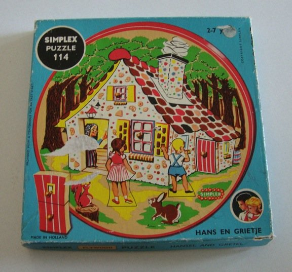 Vintage Simplex Wooden Puzzle Hansel and Gretel Made in Holland