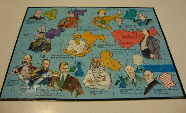 Vintage 1989 Instructional Fair 20th Century Personalities in the World Around Us Puzzle #IF859