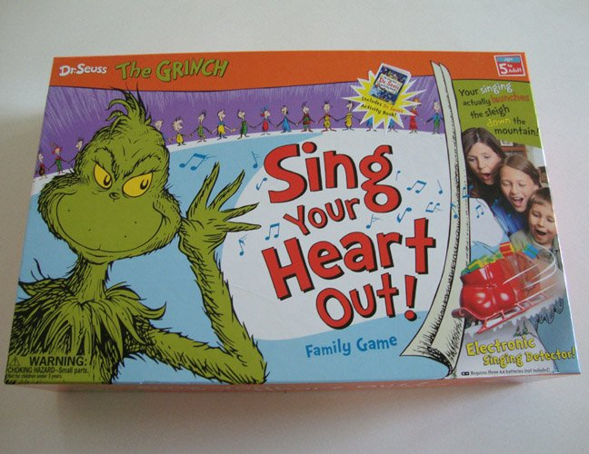 I Can Do That Games 2007 Dr. Seuss The Grinch Sing Your Heart Out Board Game