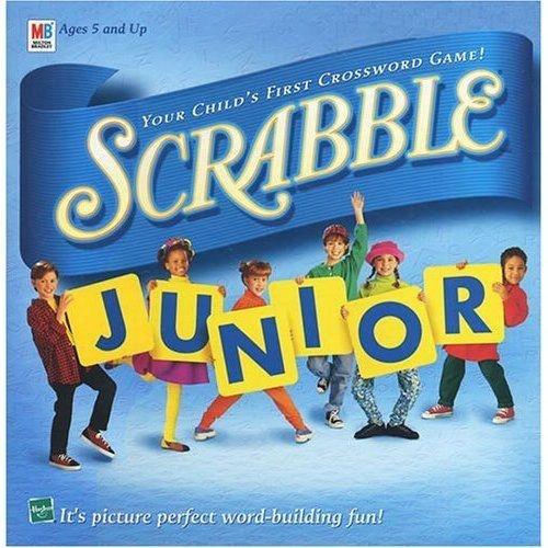 1999 Hasbro Scrabble Junior Game plus Scrabble Junior Disney Game Board