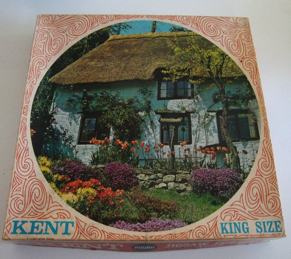 Vintage Kent - #3 Spring Beauty Round Jigsaw Puzzle