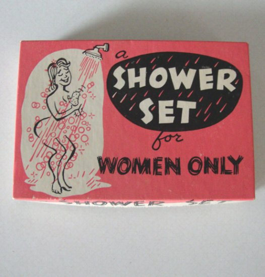 Vintage Novelty Shower Set for Women Only