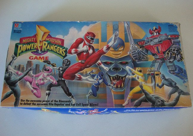 Vintage 1994 MB Mighty Morphin Power Rangers Board Game - Parts