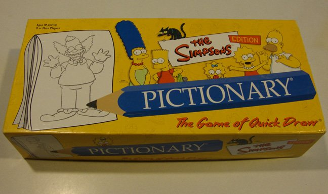 Vintage 2003 Milton Bradley Pictionary - Simpsons Edition Game
