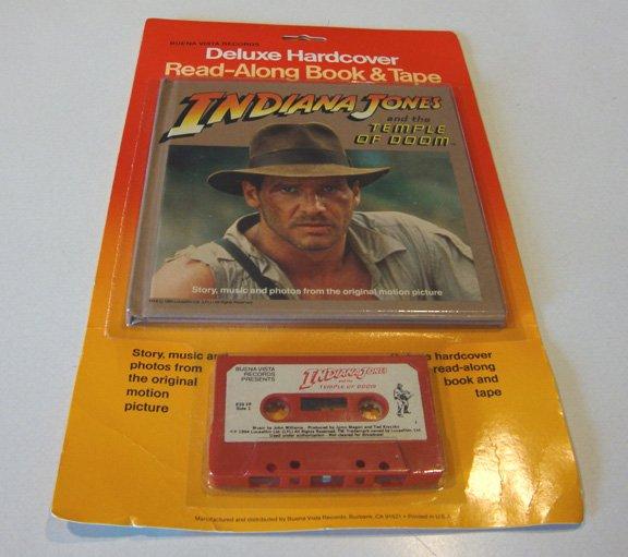 Vintage 1984 Buena Vista Indiana Jones Temple of Doom Deluxe Hardcover Read-Along Book & Tape Sealed