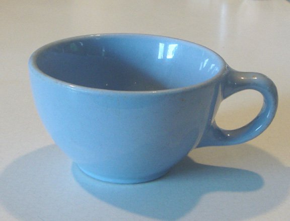 Vintage Buffalo China Cafe Restaurant Ware Blue Lune Cup (no saucer)