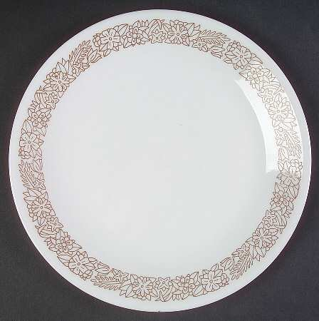 Corning Corelle Woodland Brown Luncheon / Salad Plate Set of 3