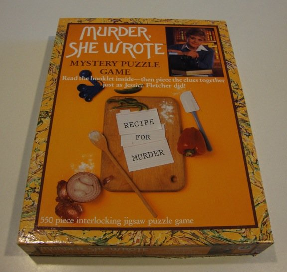 Vintage 1984 American Publishing Murder, She Wrote Recipe for Murder Mystery Puzzle 550 Pc