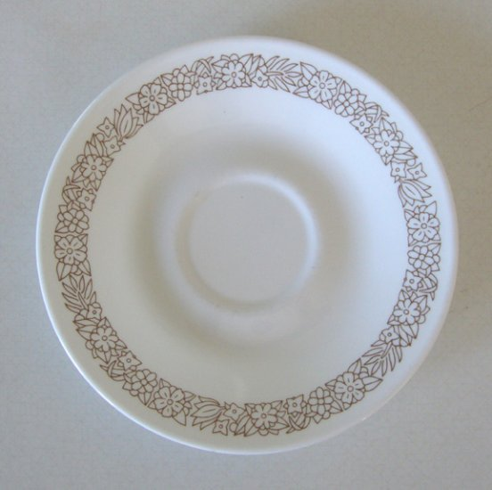 Corning Corelle Woodland Brown Saucer (no cup) Set of 5