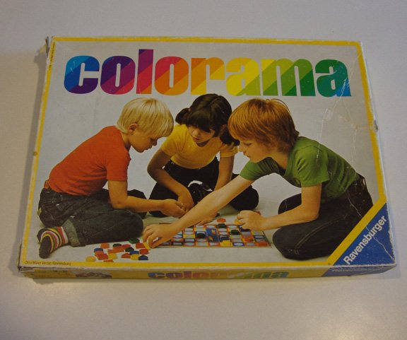 Vintage Ravensburger 1980 Colorama Game