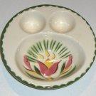 Vintage 1940s Cardinal China 2 Egg Single Serving Dish