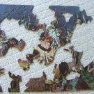 """Vintage 1932 Jay Weaver """"Indian War Dance"""" Puzzle - Partial"""