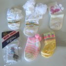 Lot of 6 Girls Socks - Infant to 2 years