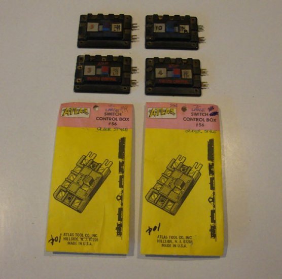 Vintage Train Atlas Switch Control Box #56 - Set of 4