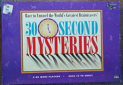 Vintage 1995 University 30 Second Mysteries Game