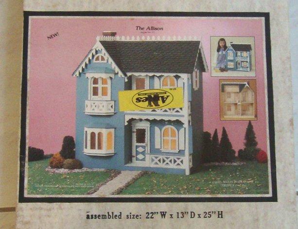 "Vintage Artply Co. No. 77 ""The Allison"" Wood Dollhouse Kit New"