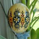 Handpainted Blown Egg Ornament Set of 2
