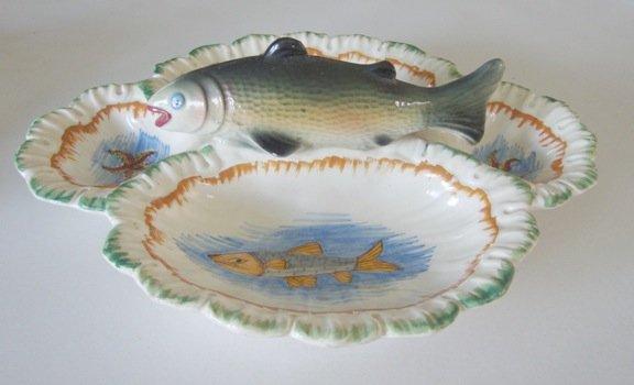 Vintage Rainbow Trout Relish Dish - Italy