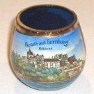 Vintage German Souvenir Cobalt Shot Glass -  Greetings from Bernburg Castle Germany