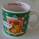 Vintage 1980s Enesco Garfield Christmas Tip No 4 Mug