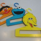 Vintage Muppets Inc. Baby Clothes Hanger Big Bird, Ernie & Cookie Monster