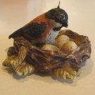 Vintage Russ Berrie #14700 Nesting Friends Bird w/ Eggs Candle