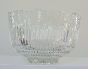 Vintage Eapg Indiana Glass Royal Punch Bowl