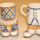 Vintage Lucrecia His & Her Cups with Feet - Set of 2