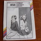 Vintage 1985 Uncut Stretch and Sew 858 Pattern - Children's Cardigan & V-Neck Sweater