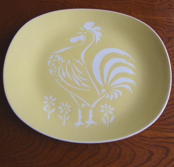 vintage harkerware harker pottery cock o 39 morn yellow. Black Bedroom Furniture Sets. Home Design Ideas