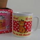 Vintage 1980s Enesco Garfield Make Me Eat Chocolate! Mug MIB