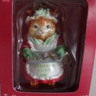 Vintage 1995 American Greetings To Grandmother With Love Cat Ornament MIB