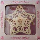 2002 Happy Holidays MARIE OSMOND Porcelain Snowflake Ornament