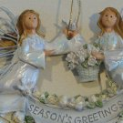 Vintage 2001 Roman Inc. Angel Accents Seasons Greetings Decorative Angels Ornament