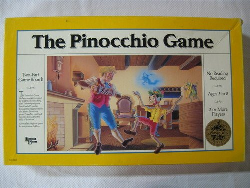 Vintage 1989 University Games The Pinocchio Game