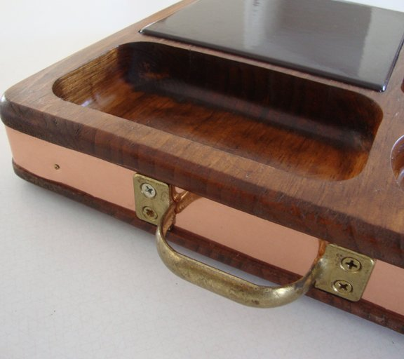 Vintage Cheese Board Server with Tile Insert