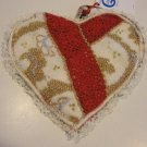 NEW Susie Q Handmade Recycled Sweater Heart Shaped Hot Pad - Local Cat Rescue Benefit