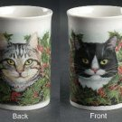 Dunoon Christmas Holiday Cat Mug