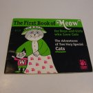 Vintage 1996 Iams The First Book of Meow for Boys and Girls - Cat Rescue Benefit