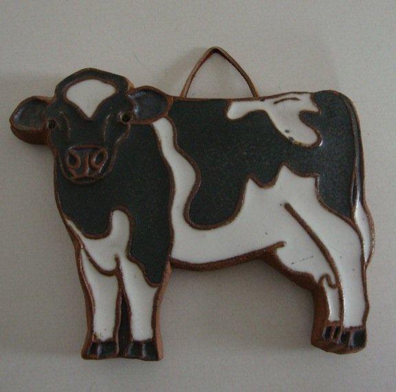 Vintage Victoria Littlejohn Ceramics Cow Trivet