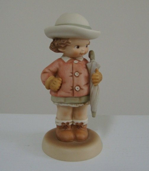 Vintage 1992 Enesco Memories of Yesterday Collection Figurine Waiting For The Sunshine - w/ Tag
