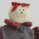 Delton Country Charm Mom Cat Doll with Kittens