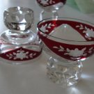 Ruby Cut-To-Clear Crystal Glass Set of 3