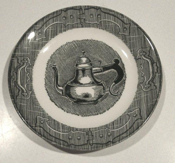 Royal USA Old Curiosity Shop Saucer (no cup) Set of 3