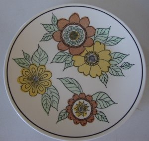 Vintage Taylor Smith & Taylor Flora Dinner Plate