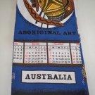 Vintage 1975 Australia Cotton Calendar Tea Towel - Aboriginal Art