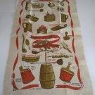 Vintage Stevens Linen Dish / Tea Towel - Early American Wooden Ware, Robert Darr Wert